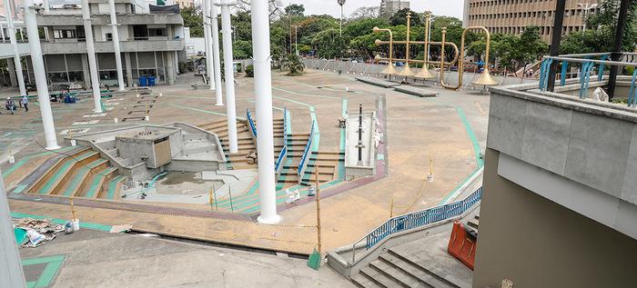 En un 85% avanza renovación de la Plazoleta Jairo Varela