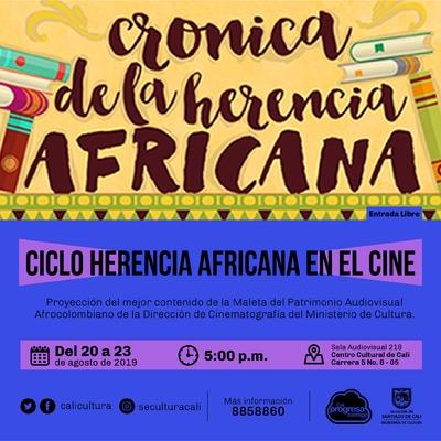 Ciclo Herencia Africana en el cine - Sala 218 – Centro Cultural de Cali