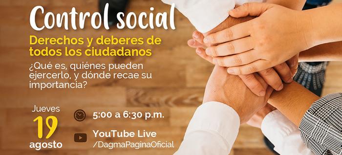 Conversatorio Virtual 'Control Social'.