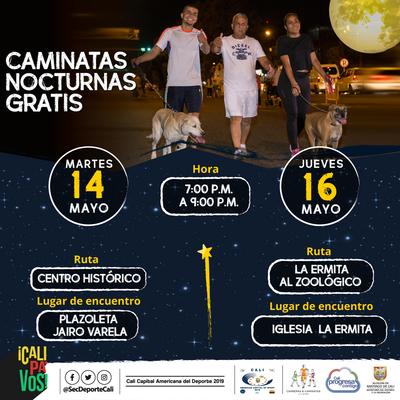Caminata nocturna ruta Centro Histórico