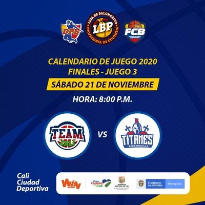 Final Liga de Baloncesto Profesional Colombiana - Juego 3