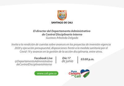 Primera rendición de cuentas del Departamento Administrativo de Control Disciplinario Interno 2020