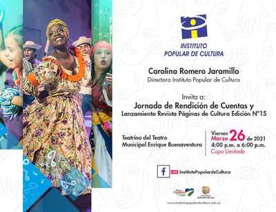 Jornada de Rendición de cuentas del Instituto Popular de Cultura y Lanzamiento Revista Páginas de Cultura N° 15