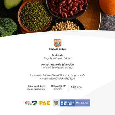 Primera Mesa Pública del Programa de Alimentación Escolar - PAE, para la vigencia 2021
