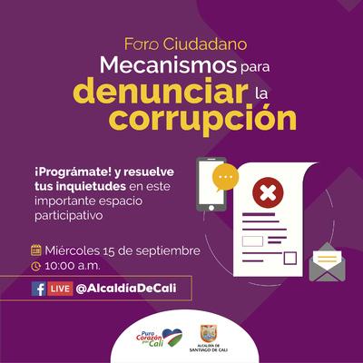 Foro: Mecanismos para denunciar la corrupción