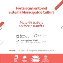 Mesa Sectorial Danzas - 27 de mayo 2019 - Centro Cultural, Carrera 5 No. 6-05 - Auditorio principal