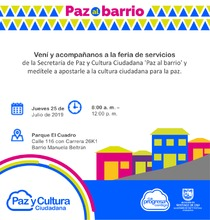 "Feria de Servicios ""Paz al Barrio"""