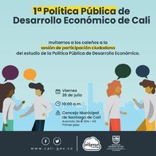 Sesión de participación ciudadana Política Pública de Desarrollo Económico