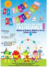 XI Feria Estudiantil de Estilos de Vida Saludable 2019. Bájale al Azúcar, Bájale a la Sal, Súbele al Sabor.