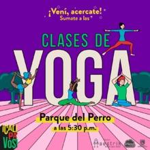 Clases de Yoga - Parque del Perro