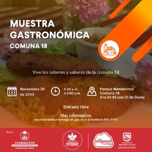 Muestra Gastronómica comuna 18
