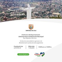 Primera jornada de Rendición de Cuentas del Departamento Administrativo de Planeación Municipal