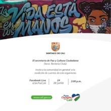 Rendición de cuentas Secretaría de Paz y Cultura Ciudadana de Cali, 24 de junio de 2020
