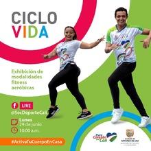 Ciclovida exhibición de modalidades fitnes aeróbicas