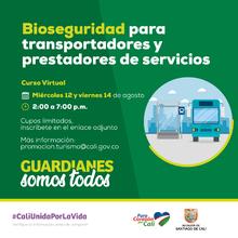 Bioseguridad para transportadores y prestadores de servicio