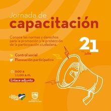 Capacitación en Control Social y Planeación Participativa