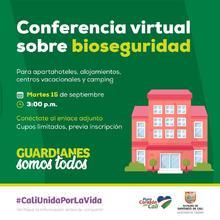 Conferencia virtual sobre bioseguridad