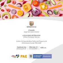 SEGUNDA MESA PÜBLICA DEL PROGRAMA DE ALIMENTACION ESCOLAR (PAE) 2020