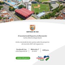 Primera rendición de cuentas de la Secretaría del Deporte y la Recreación 2021