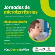 Jornadas de microterritorios -Puntos para toma de pruebas Covid-19-