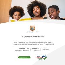 La Secretaría de Bienestar Social invita a su primera jornada de rendición de cuentas 2021.