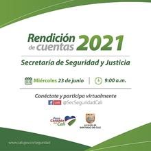 Invitación a Primera Rendición de Cuentas Secretaria de Seguridad y Justicia 2021