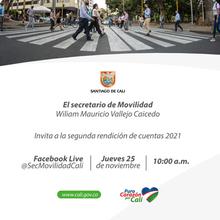 Primea rendición de cuentas 2021 Secretaría de Movilidad