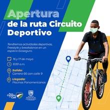 Apertura de rutas deportivas - Ruta Circuito deportivo