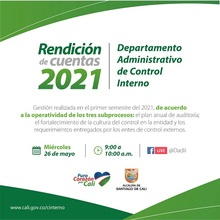 Primera Rendición de Cuentas del Departamento Administrativo de Control Interno 2021