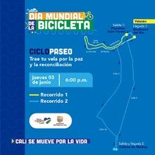 Día mundial de la bicicleta  Ciclopaseó