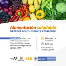 Foro virtual - Alimentación saludable en época de crisis social y económica