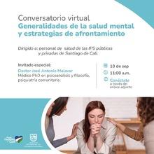 Conversatorio virtual: Generalidades de la salud mental y estrategias de afrontamiento