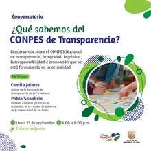 ¿Qué sabemos del CONPES Nacional de Transparencia?