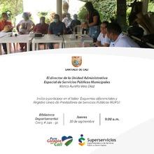 """Taller participativo """"Esquemas diferenciales y Registro Único de Prestadores de Servicios Públicos"""" - RUPS"""