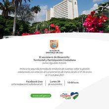 Segunda rendición de cuentas de la Secretaría de Desarrollo Territorial y Participación Ciudadana
