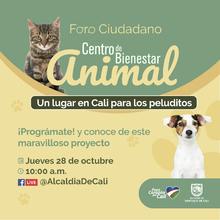 Foro ciudadano sobre el Centro de Bienestar animal
