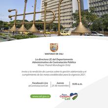 Segunda rendición de cuentas del Departamento Administrativo de Contratación Pública 25 de noviembre de 2021