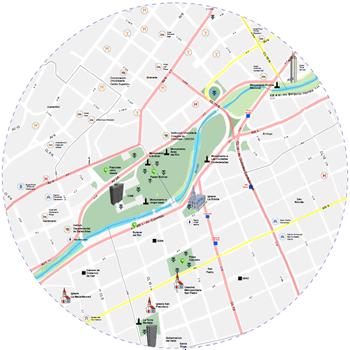 Mapa Físico - Turístico del Municipio de Santiago de Cali