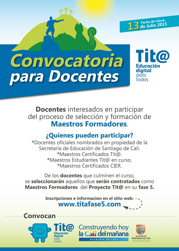 Tit educaci n digital para todos documentos de consulta for Convocatoria para docentes