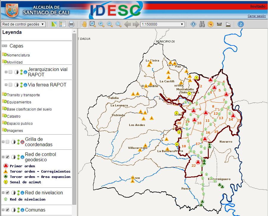 Clic aquí para consultar el mapa en el Geovisor IDESC