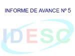 Quinto Informe de Avances de la IDESC