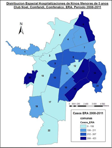 Mapa del Sistema de Vigilancia Epidemiol?gica en Salud Ambiental (SISVEA) actualizado