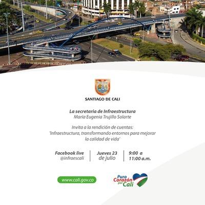 Primer Rendición de Cuentas Secretaría de Infraestructura 2020