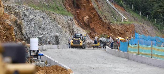 Avanzan las obras de la ampliación de la vía a Pance
