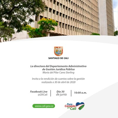 Rendición de Cuentas del Departamento Administrativo de Gestión Jurídica Publica