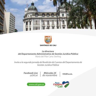Segunda Jornada de Rendición de Cuentas del Departamento Administrativo de Gestión Jurídica Pública