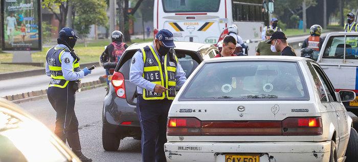 Más de 1.600 infractores a las normas de tránsito durante fin de semana