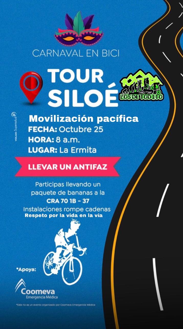 Tour por Siloé en bicicleta: un llamado al respeto por la vida en la vía
