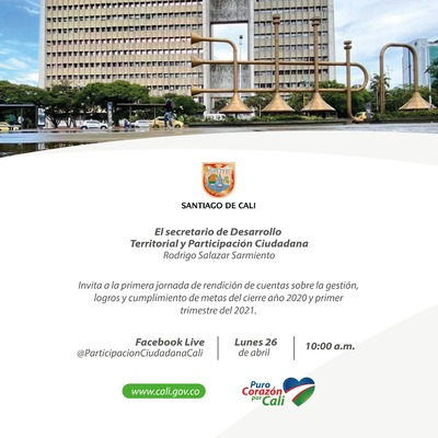 Primera jornada de rendición de cuentas de la Secretaría de Desarrollo Territorial y Participación Ciudadana