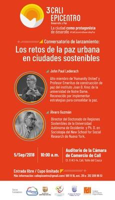 Conversatorio - Los retos de la Paz Urbana en ciudades sostenibles